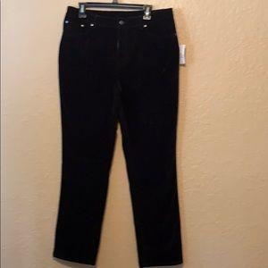 Diane Gilman Black velvet jeans